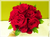 Red Roses Bride Bouquet