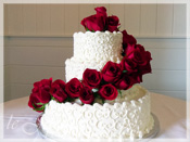 Wedding Cake Rose Decoration